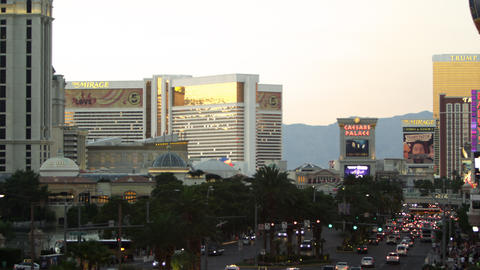 Shot of the strip casinos Footage