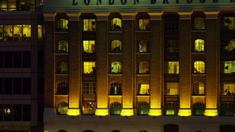 London Bridge Hospital windows Footage