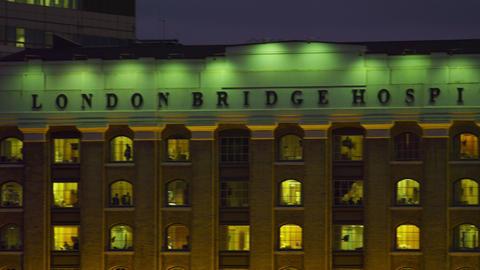 The name of London Bridge Hospital Footage