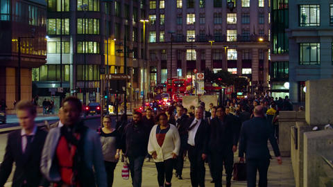 LONDON - OCTOBER 10: Evening on a street on October 10, 2011 in London Footage
