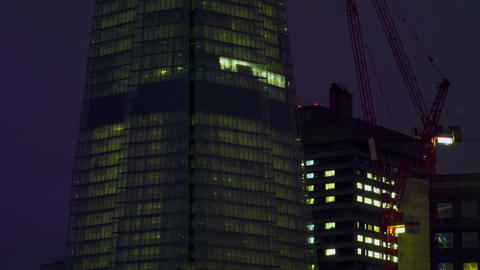 London office buildings in darkness Footage