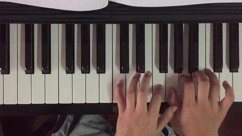 Piano music pianist hands playing. Musical instrument grand piano details Footage