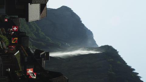 static shot of switzerland and waterfall Footage
