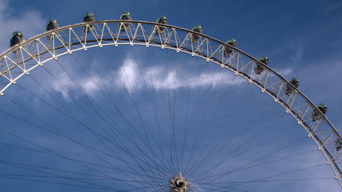 Close up of London Eye from low angle in London, England Footage