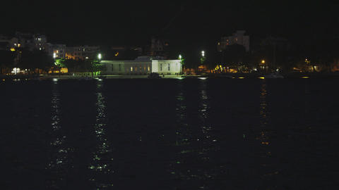 Static shot of buildings along the water at Red Beach, Rio Footage