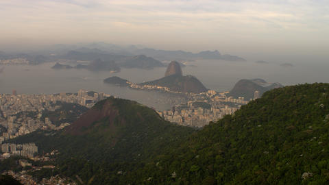 The Brazilian HIghlands, Atlantic Ocean, and Rio de Janeiro from a helicopter Footage