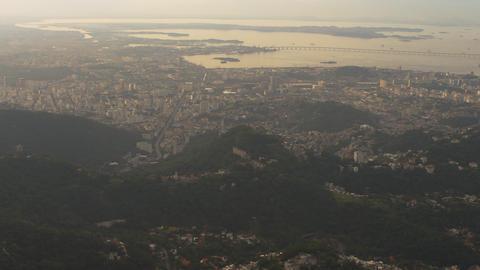Helicopter pan of Rio de Janeiro, Brazil Footage