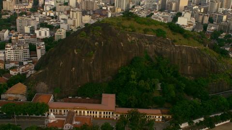 High-definition aerial pan of Rio de Janeiro, Brazil Footage