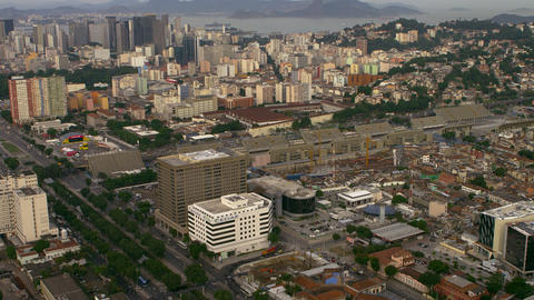 Rio de Janeiro's cityscape and roadways - aerial footage Footage