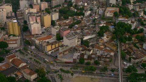 Aerial mapping of Rio's roadways and city design Footage