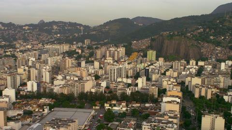 Aerial footage of Rio de Janeiro highrise buildings Footage