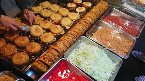 Preparation and street food sale of Japanese specialties Live Action