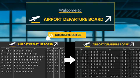 Airport Departure Board After Effects Template