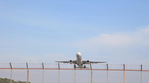 Commercial aircraft take off from the airport Footage
