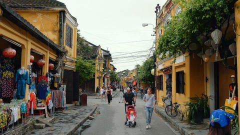 Hoi An - town with ancient architecture Footage