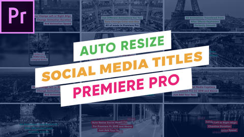 Auto Resize Social Media Titles Premiere Pro Template