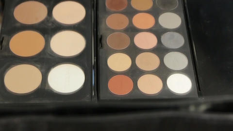 Makeup Brushes Eye Shadows Footage