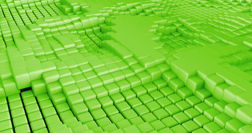 3D Cubes Background Seamless Looping Abstract Live Action