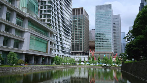 Modern architecture at Tokyo downtown - TOKYO, JAPAN - JUNE 18, 2018 Footage