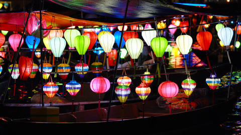Beautiful lanterns in Hoi An old town Archivo