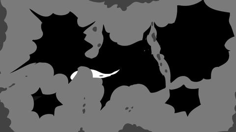 Cartoon SMOKE Elements And Transitions Apple Motionテンプレート