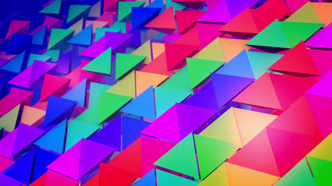 Rows of lengthy colored pyramids Animation