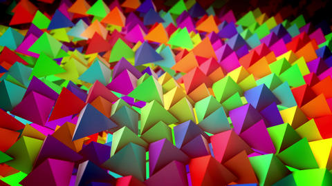 Flat surface with hundreds of pyramids Animation