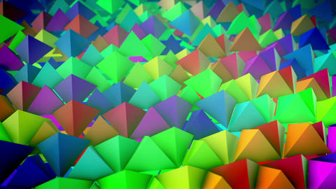 Slanted surface with colorful pyramids lines Animation