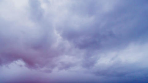 Glitch effect. Clouds at dawn. Time Lapse Footage