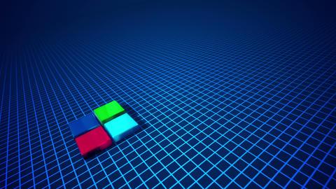 Four abstract columns shaping a diagram Videos animados