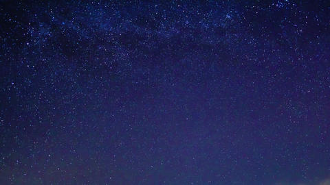 Glitch effect. Milky way around the pole star. Time Lapse Stock Video Footage