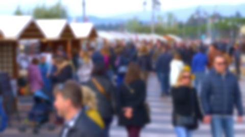 Unfocused people Walking at the Street GIF