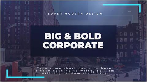 Big & Bold Corporate Premiere Pro Template
