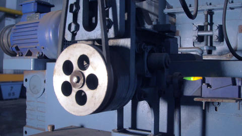 close view rotating parts of machine with compressor GIF
