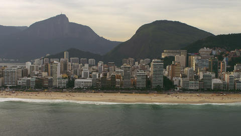 Aerial view of Rio de Janiero as seen from the sea Live Action
