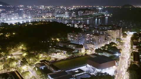 View of Rio de Janeiro, Brazil timelapse at night Footage