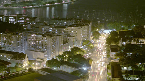 Time lapse of busy street and cityscape in Rio de Janeiro, Brazil Footage
