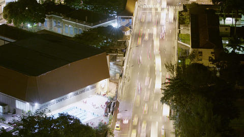 Aerial time lapse from above over a busy street in Rio de Janeiro, Brazil Footage