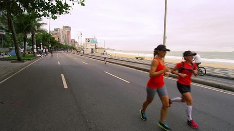 RIO DE JANEIRO, BRAZIL - JUNE 23: Slow dolly shot, walking on road on June 23, 2 Footage