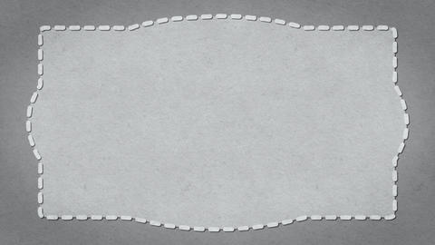 Frame Dashes Border Paper Texture Animated White Background Stock Video Footage