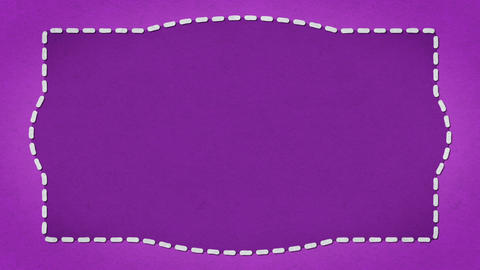 Frame Dashes Border Paper Texture Animated Purple Background CG動画素材