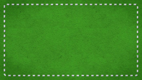 Frame Dashes Border Paper Texture Animated Green Background Animation