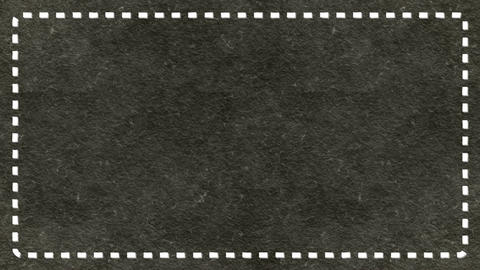 Frame Dashes Border Paper Texture Animated Dark Ashen Background CG動画素材