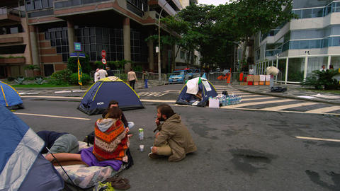 RIO DE JANEIRO, BRAZIL - JUNE 23: Slow pan of protest on June 23, 2013 in Rio, B Footage