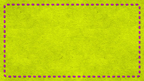 Frame Dashes Border Paper Texture Animated Yellow Background Animation