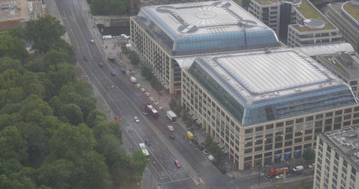 4K, View From Berlin TV Tower, Heiligengeistkirchplatz, Berlin Footage