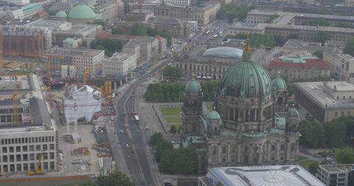 4K, View From Berlin TV Tower, Berlin Dome Footage