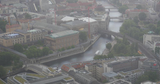 4K, View From Berlin TV Tower, National Gallery, Berlin Footage