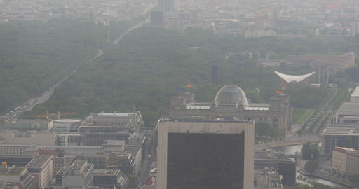 4K, View From Berlin TV Tower, Reichstag, Berlin Footage