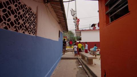 RIO DE JANEIRO, BRAZIL - JUNE 23: Slow dolly shot of favela on June 23, 2013 in  Live Action